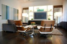 Eames Chair Living Room Furniture Minimalist Living Room With Black Eames Lounge Chair