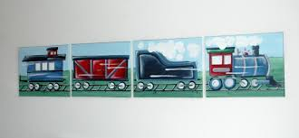 sensational inspiration ideas train wall art for nursery canvas