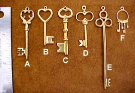 reproduction and antique skeleton key blanks