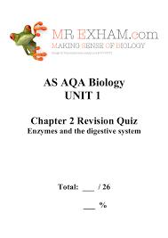 aqa as biology unit 1 chapter 2