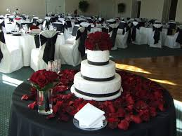 red and white table decorations for a wedding wedding ideas wedding decorations red white and black black red