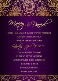 purple and gold wedding invitations follow us signaturebride on and on signature