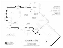 Floor Plans For Real Estate Agents 1276 Potter Lane U2013 1st Floor Plan Sketch Site Plan Solutions