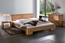 Simple Wooden Beds Chunky Wooden Bed