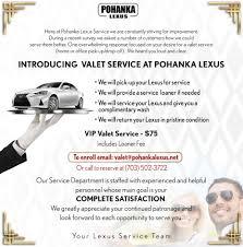 lexus service center in alexandria va valet service pohanka lexus
