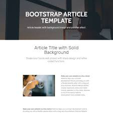 free bootstrap 4 template 2017