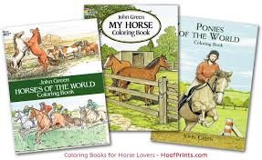 coloring books fun pack includes one each horses of the world