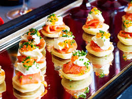 bellini canape blinis with smoked salmon recipe food to