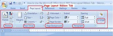 word layout pictures how to use the microsoft office word 2007 page layout ribbon tab