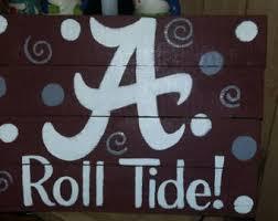 Alabama Football Home Decor Rustic Football Sign Etsy