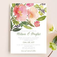watercolor floral wedding invitations by yao cheng minted