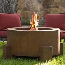 Steel Firepit Outdoor Steel Pit Contemporary Patio Chicago By