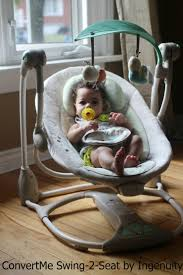 Newborn Baby Swing Chair Convertme Swing 2 Seat By Ingenuity Review Frugal Mom Eh