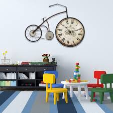 compare prices on decorative bike wall clocks online shopping buy e home metal wall art wall decor vintage bike metal wall clock one pcs