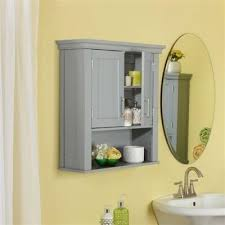 Cheap Bathroom Storage Cabinets Buy Grey Wood Bathroom Wall Mounted Storage Cabinet W Bottom