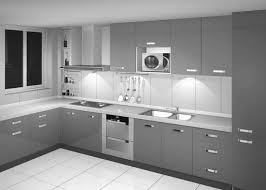 Kitchen Cabinet Color Stylish And Cool Gray Kitchen Cabinets For Your Home Throughout