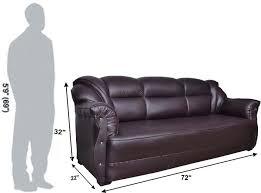 Sofa Set Prices In Bangalore Homestock Leatherette 3 1 1 Brown Sofa Set Price In India
