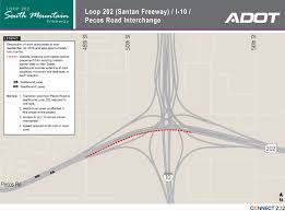 Phoenix Freeway Map by South Mountain Freeway Construction Scheduled At I 10 Loop 202