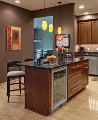 kitchen island with refrigerator kitchen island with wine fridge ideas shaker cherry cabinets design