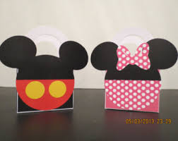 mickey mouse gift bags mickey and minnie mouse goody bags set of 12