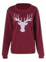 christmas sweatshirts for women cheap online sale at wholesale