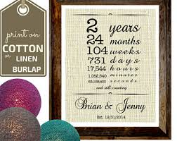 two year anniversary gift cotton anniversary gift for gift for