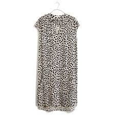 madewell morningside shiftdress in leopard sketch in black lyst