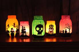 Halloween Mason Jar Ideas Diy Mason Jar Luminaries Free Printable Template Party Ideas