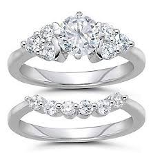 engagement and wedding ring set bridal sets diamond engagement wedding ring sets sam s club