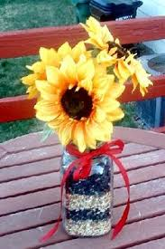 Centerpieces With Sunflowers by Sunflower Mason Jar Wedding Decor Wedding Ideas Pinterest