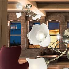 Esszimmer Lampe Messing Moderne Messing Deckenleuchte Mit Glas Schirm Lampen U0026 Möbel