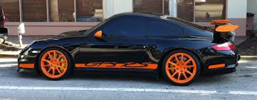 black porsche gt3 black orange porsche 911 gt3 rs in miami beach exotic cars on