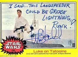 Meme Trading Cards - mark hamill star wars trading card joke 001 landspeeder grease