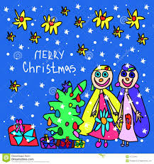 children s cards children s christmas card drawings merry christmas and happy new