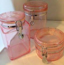 pink canisters kitchen canisters jars in color pink ebay