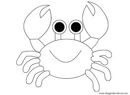 Crab Coloring Page Thaypiniphone Crab Coloring Page