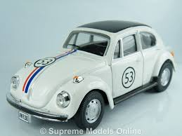 volkswagen bug white volkswagen herbie beetle model car 1 43rd scale white colour