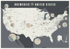 map of us states poster map breweries of the united states tap trail