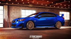 2017 subaru impreza sedan blue 2018 subaru impreza wrx sti might look like this autoevolution