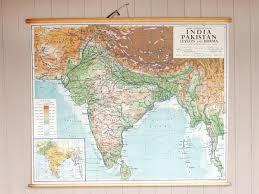 Vintage World Map Canvas by Vintage Canvas Wall Map Of India Sold Scaramanga