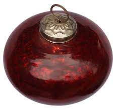 glass bauble hanging in red color u2013 5 u201d tree u0026 home decorations