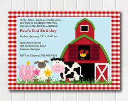 barnyard invitations etsy