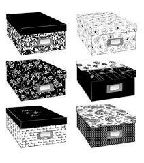 pioneer scrapbook box pioneer black white photo storage box six assorted designs joann