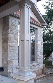 exterior column wraps recessed panel porch columns porch column