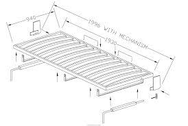 mecanisme lit mural escamotable mécanisme de lit mural horizontal avec pattes à déploiement