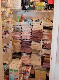 diy by design organized linen closet