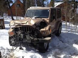 wrecked jeep wrangler for sale purchase used 2000 jeep wrangler salvage wreck parts