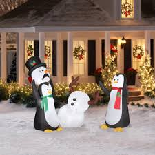 Inflatable Christmas Decorations For The Yard by Airblown Inflatables 5 U0027 Keep Away Snowman Combo Pack If I Ever