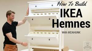 ikea shoe cabinet how to assemble ikea hemnes shoe cabinet youtube