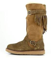 s ugg australia leather boots ugg australia dauphine brown distressed leather boots s n 1003192